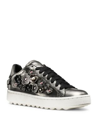 Leather Lace-Up Sneakers by COACH