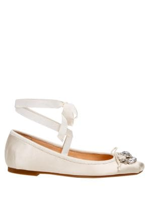 Buy Knotts Satin Ballet Flats by Badgley Mischka online