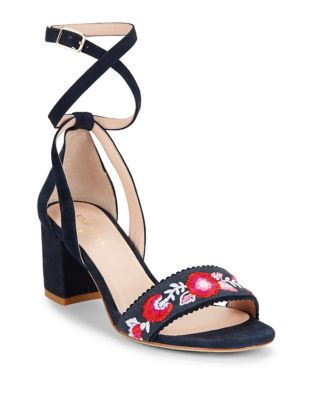 Watson Cotton Block Heel Sandals by Kate Spade New York