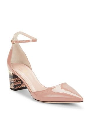 Marylou Patent Leather Block Heel Pumps by Kate Spade New York