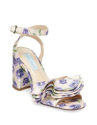 Blue By Betsey Johnson Flirt Floral-Print Sandals by Betsey Johnson