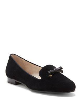 Anniston Suede Bow Flats by Louise et Cie