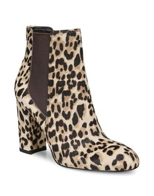 Leopard Calf Hair Booties by Sam Edelman