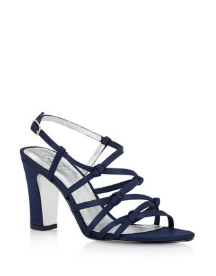 Adelson Knotted Satin Sandals by Adrianna Papell