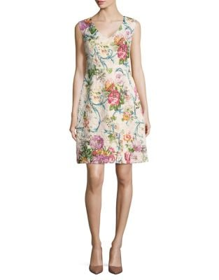 Floral Day Dress by Adrianna Papell