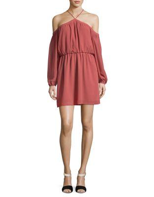 Crepe Cold-Shoulder Dress by Wayf