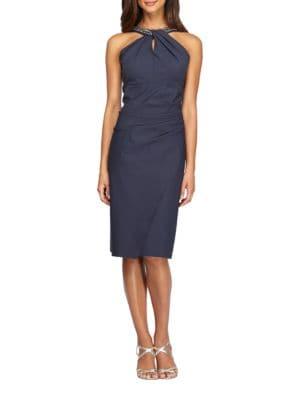 Embellished Halter Dress by Xscape