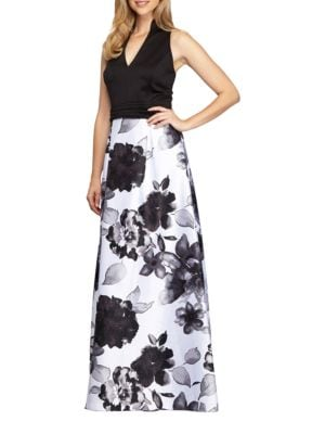 Floral-Print Ballgown by Alex Evenings