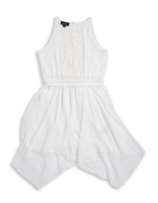 Girls Lace Panel Chiffon Dress
