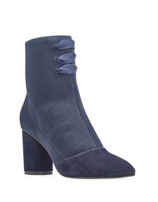 Cartolina 2 Satin Fabric Booties by Nine West