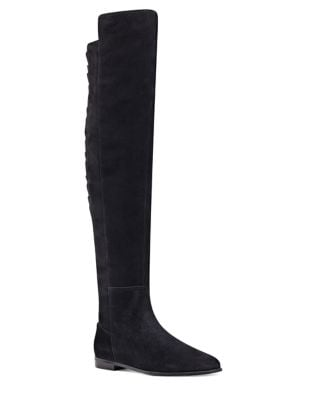 Eltynn Over-The-Knee Suede Boots by Nine West