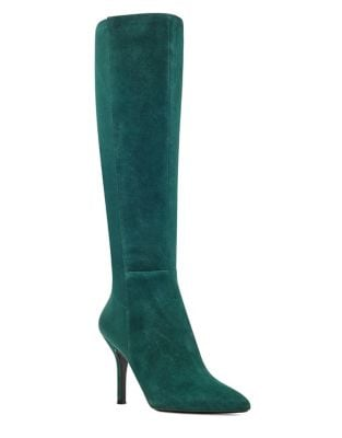 Fallon Stiletto Suede Boots by Nine West