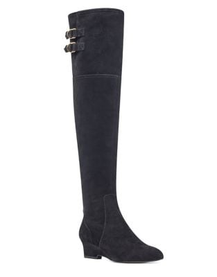 Jaen Suede Over-The-Knee Boots by Nine West