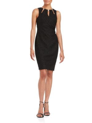 Cutout Detail Sheath Dress by Eliza J