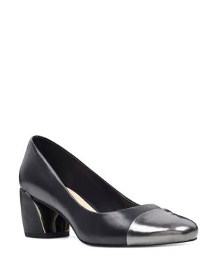 Jineya Cap Toe Leather Pumps by Nine West
