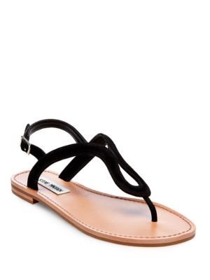 Takeaway Leather Flat Sandals by Steve Madden