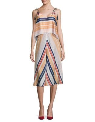 Striped Popover Midi Dress by RACHEL Rachel Roy