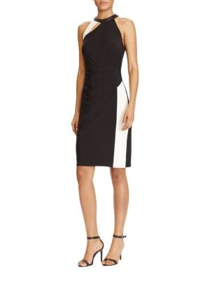 Photo of Asymmetrical Front Cutout Dress by Lauren Ralph Lauren - shop Lauren Ralph Lauren dresses sales