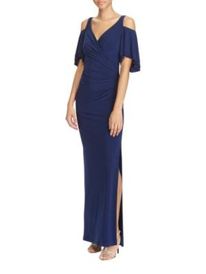 Flutter Cold Shoulder Gown by Lauren Ralph Lauren