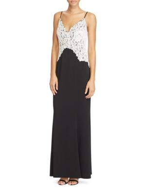 Embroidered Lace Jersey Gown by Lauren Ralph Lauren