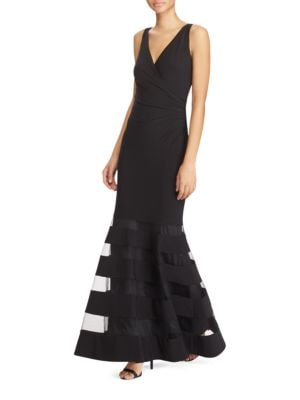 Sheer Panelled Tulle Gown by Lauren Ralph Lauren