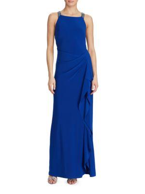 Beaded Straps Gown by Lauren Ralph Lauren