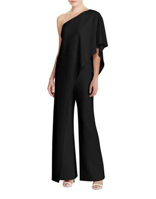 One-Shoulder Crepe Jumpsuit by Lauren Ralph Lauren