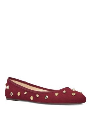 Morton Embellished Fabric Ballet Flats by Nine West