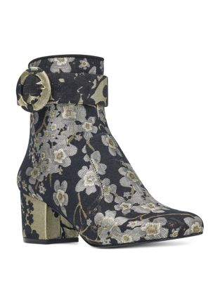Quilby Brocade Booties by Nine West