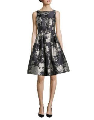Floral Fit and Flare Party Dress by Eliza J