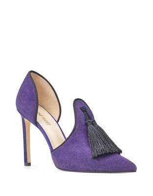 Tyrell Tassel D'Orsay Suede Pumps by Nine West