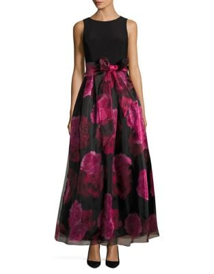 Floral Skirt Gown by Eliza J
