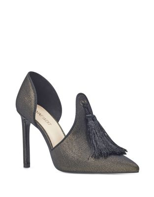 Tyrell Tassel D'Orsay Textile Pumps by Nine West