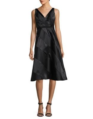 Stripped Knee-Length Dress by Adrianna Papell
