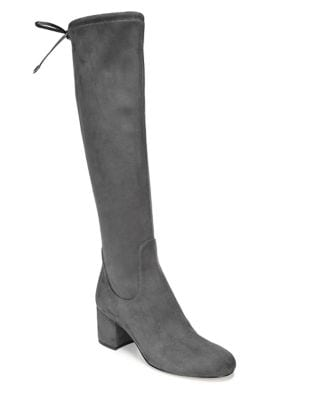 Self-Tie Suede Boots by Sam Edelman
