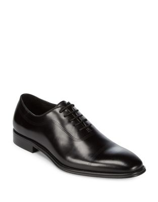 Lace-Up Leather Oxfords...