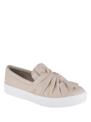 Zoe Faux Leather Platform Sneakers by Mia