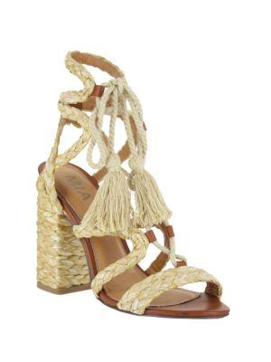 Gigi Block Heel Sandals by Mia