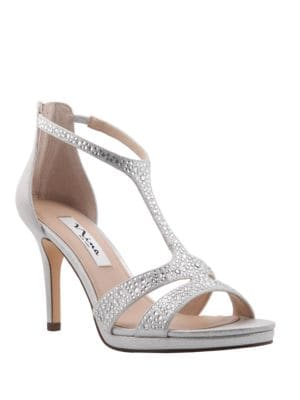 Brietta Leather T-Strap Sandals by Nina