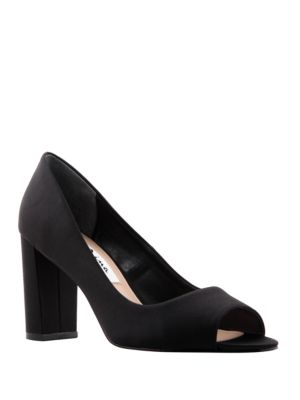 Farlyn Satin Peep Toe Pumps by Nina