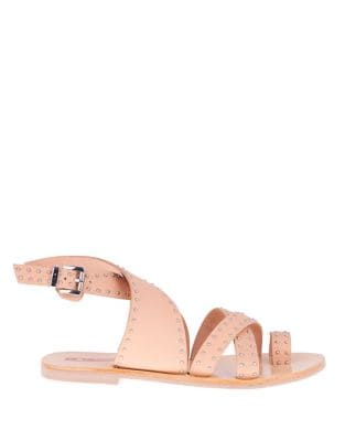 Vesper Crossover Studded Leather Sandals by Sol Sana