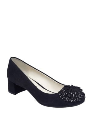 Happy Suede Pumps by Anne Klein