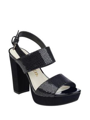 Lorrie Velvet Platform Sandals by Anne Klein