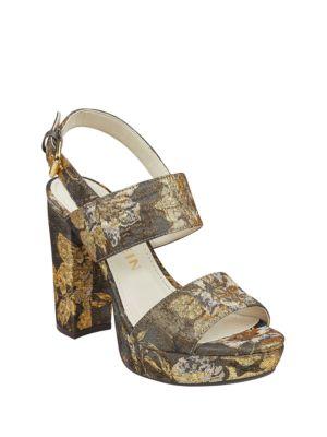 Lorrie Floral Platform Sandals by Anne Klein