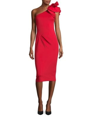 One-Shoulder Cocktail Sheath Dress by Betsy & Adam