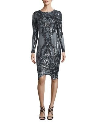 Sequined Sheath Dress by Betsy & Adam