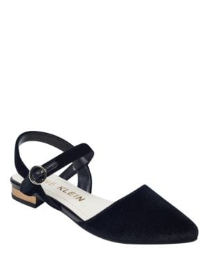 Odelle Velvet Point Toe Shoes by Anne Klein