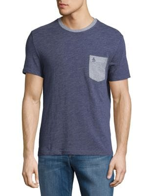 Contrast Pocket Tee by Black Brown