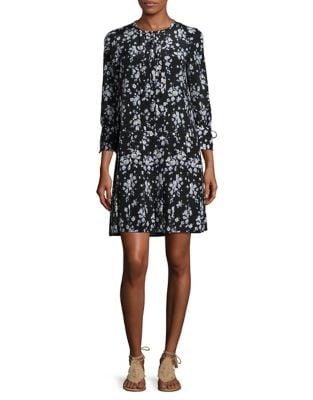 Barocco Floral Silk Dress 500087162639