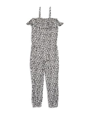 Girl's Animal Print Jumpsuit...